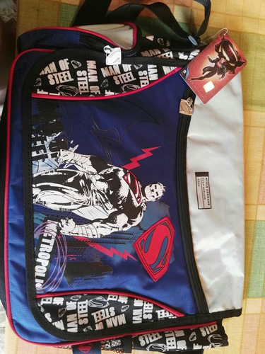 mochila escolar superman!