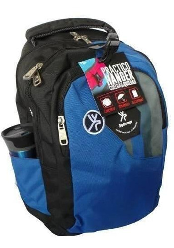mochila escolar top drawer himalaya azul