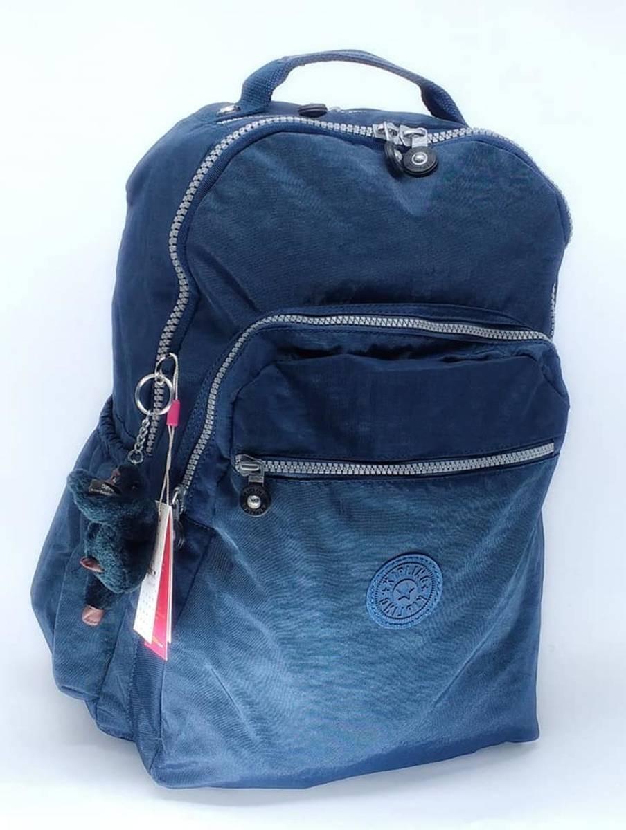e9bc720ee Mochila Escolar Viagem Notebook Azul Marinho Kipling Seoul - R$ 388 ...