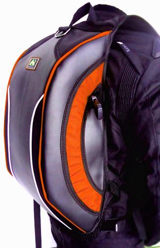 mochila escolar viagem passeio impermeável notebook laranja
