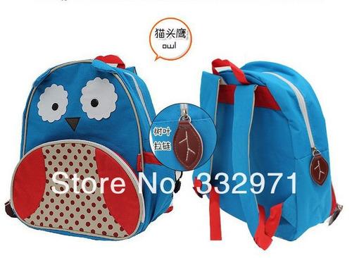 mochila escolar zoo infantil corujinha - importado