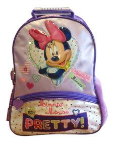 baa547d92dd Maleta/mochila Con Llantitas De Minnie Mouse Disney - Mochilas en ...