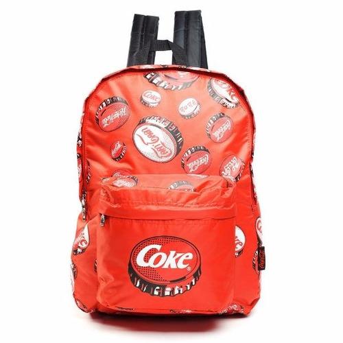 mochila espalda 17  coca-cola (5758)