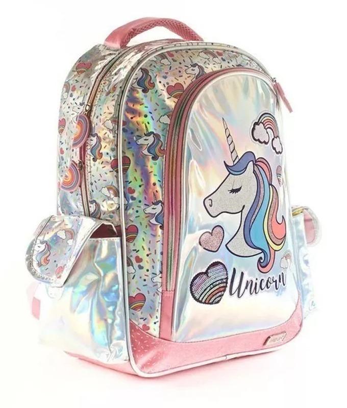 2dd475f8d mochila espalda 17´´ escolar unicornio kooshi 2019 jiujim. Cargando zoom.