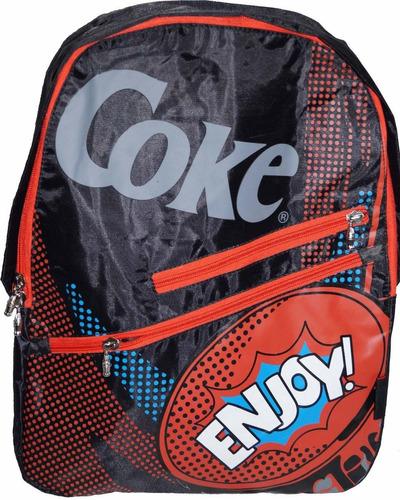 mochila espalda coca cola 17' (5870)
