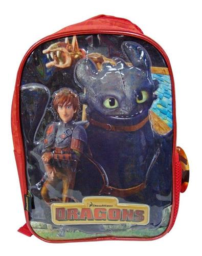 mochila espalda dragones 12'' (7007)