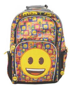 mejor amado 726d8 18661 Mochila Espalda Grande 18p Emoji Emoticones #889 Mundomanias