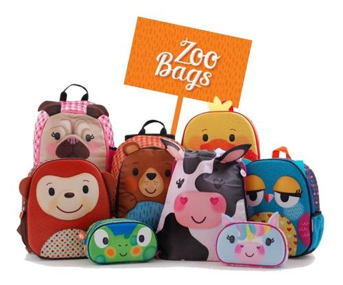 mochila espalda jardin 12 pulg zoo bags animalitos unicornio