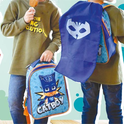 mochila espalda jardin 12p disney pj masks con capa footy
