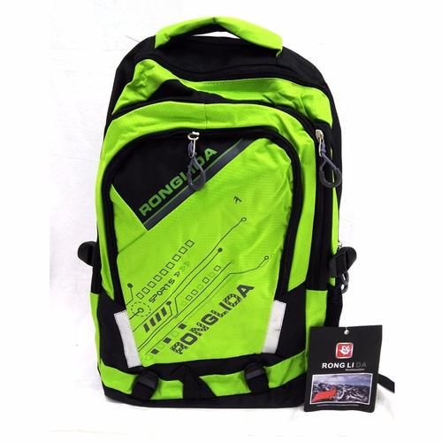 mochila esporte ronglida verde limão - 1 unidade