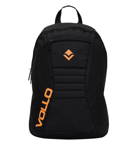 mochila esportiva preto e laranja vollo club vbg001 c/ nf