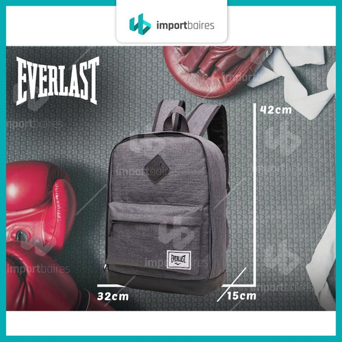 mochila everlast original urbana resistente gimnasio porta notebook deportiva unisex  hombre mujer
