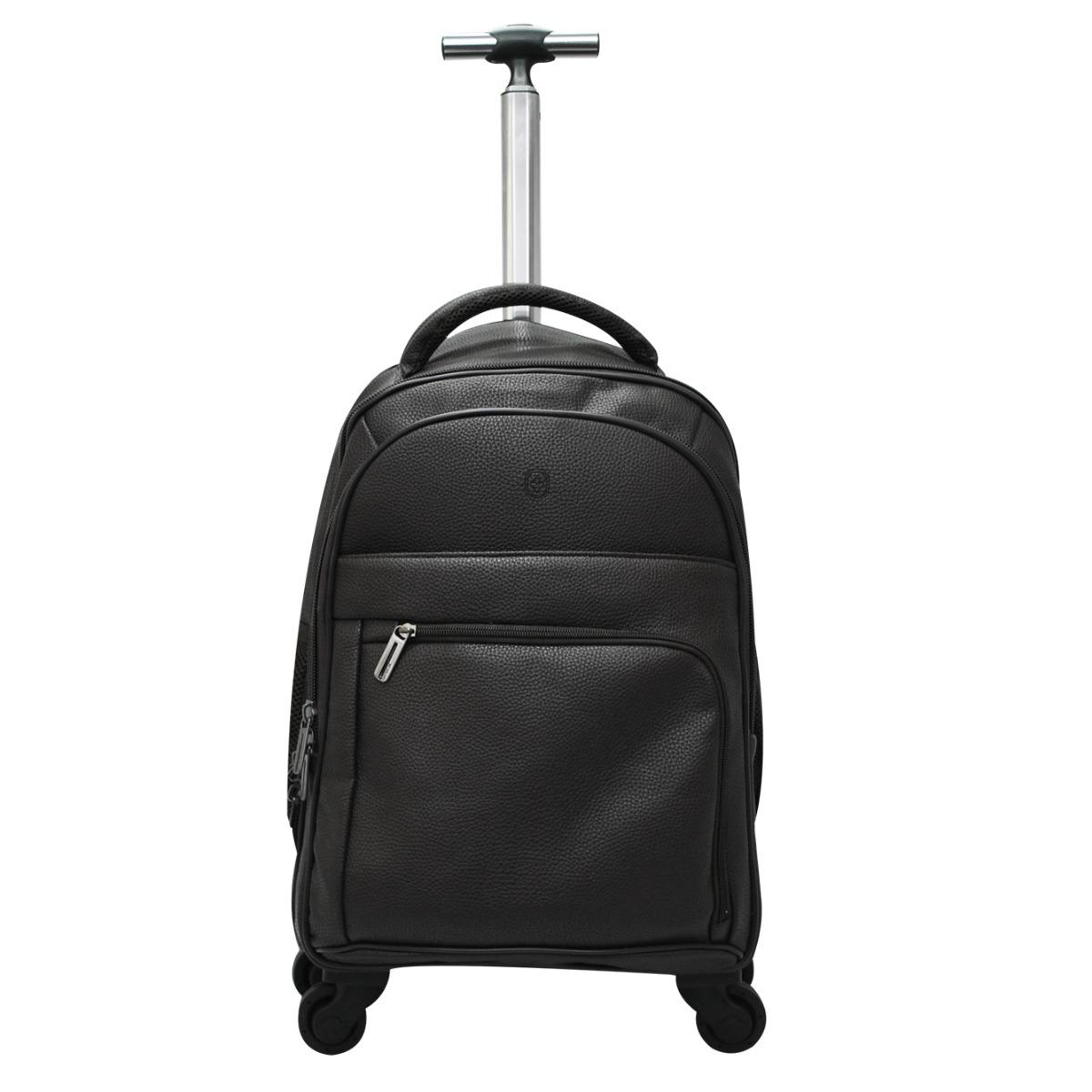 3964846a4 mochila executiva 4 rodinhas 360º puxador alça costas pu. Carregando zoom.