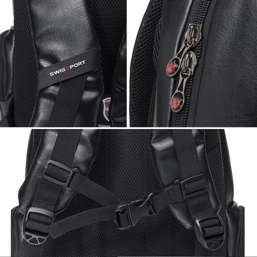 mochila executiva masculina p/ notebook ipad original swissport preta reforçada