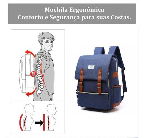 mochila executiva para notebook masculina feminina 25l