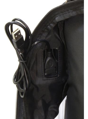 mochila executiva reforçada alça cabo de aço c/ cadeado 33 l