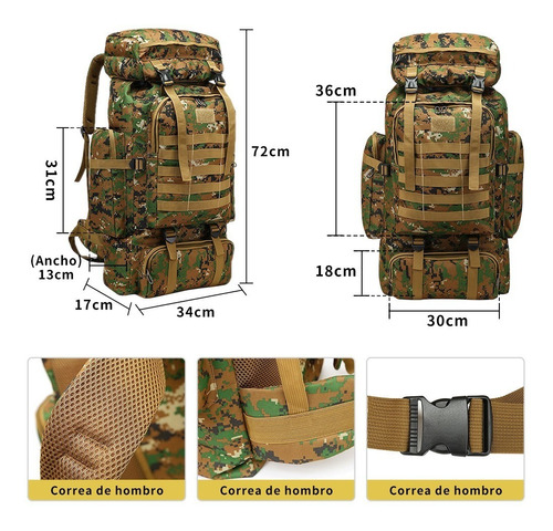 mochila exterior de gran capacidad