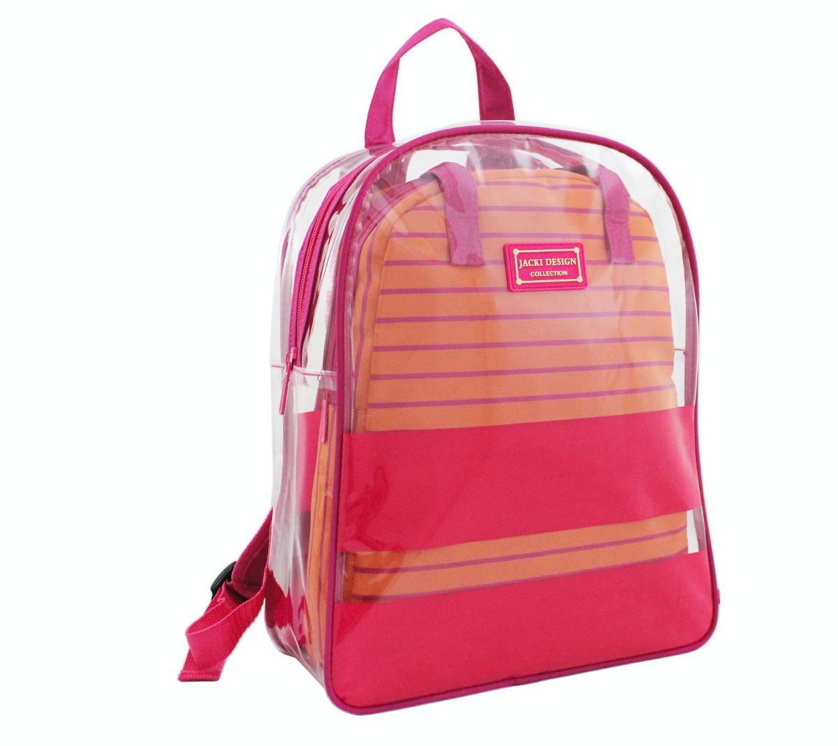 Bolsa De Mao Transparente : Mochila feminina pe?as bolsa de m?o praia compras escola