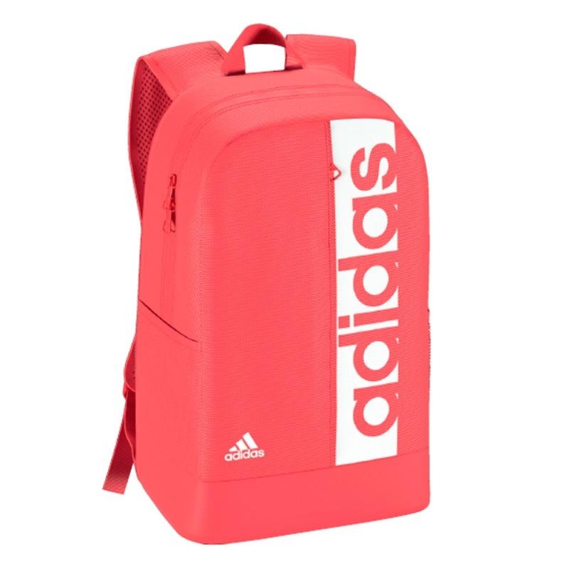 mochila adidas rosa e preto