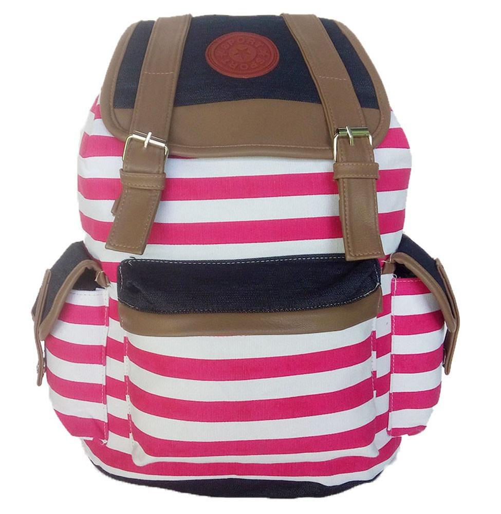 Bolsa Mochila Feminina Rosa : Mochila feminina bolsa listrada faculdade trabalho rosa