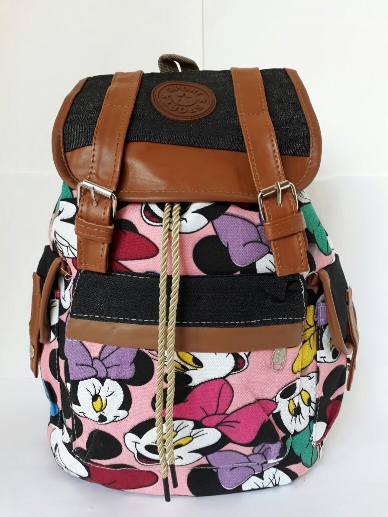 5483821f7 mochila feminina bolsa saco escola faculdade estampada. Carregando zoom.