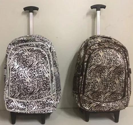 mochila feminina com rodinhas reforçada linda estampa