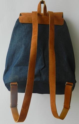 mochila feminina em jeans matelassê