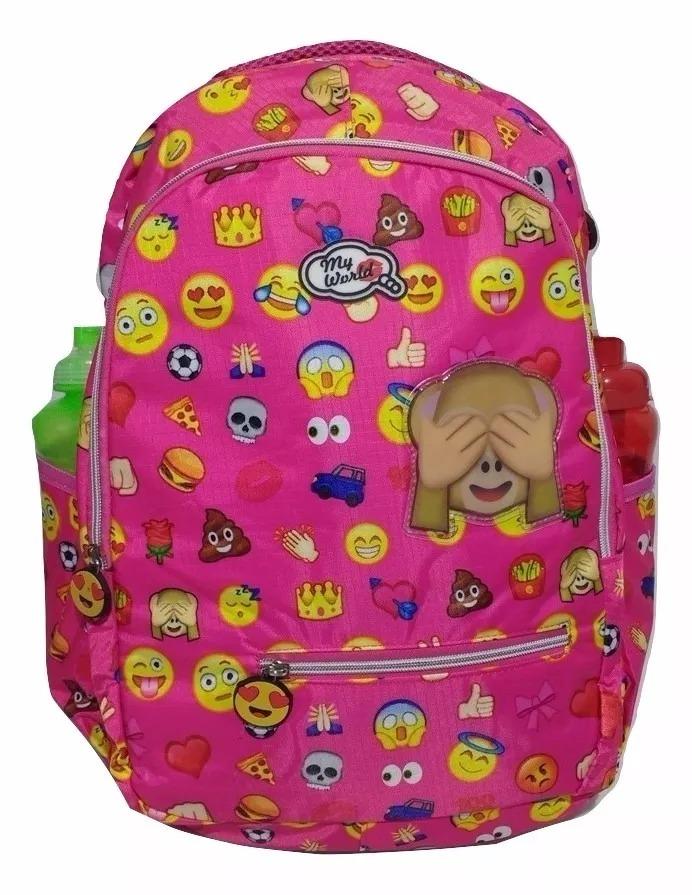 2f80a2991 mochila feminina emotions emoji rosa oferta promoção. Carregando zoom.