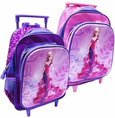 7b3b399b1 Mochila Feminina Escolar Princesa Com Rodinha 3d Infantil 12 - R ...
