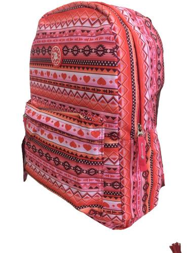 mochila feminina étnica cores juvenil infantil escolar aula