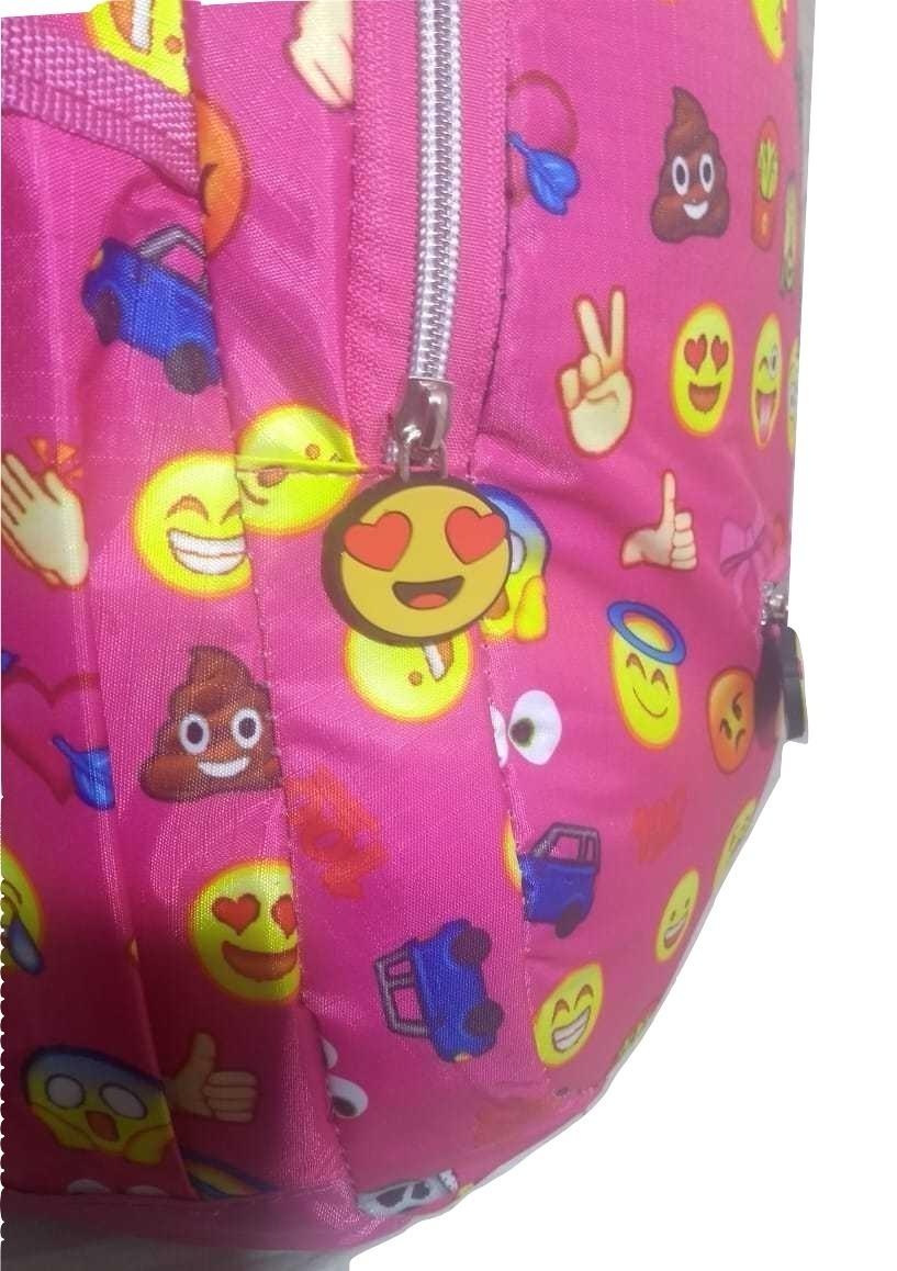 ff9e158ce mochila feminina juvenil emoticon emoji preto oferta atacado. Carregando  zoom.