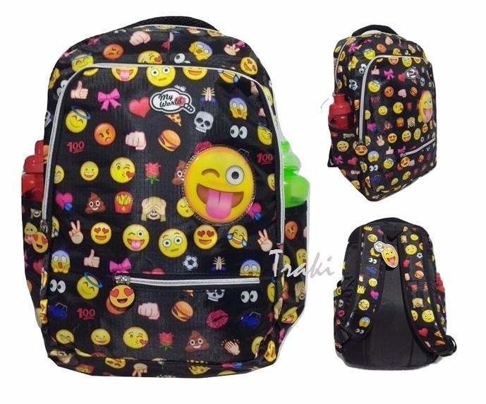 8ceec24df Mochila Feminina Juvenil Emotions Emoji Preto Oferta - R$ 69,60 em Mercado  Livre