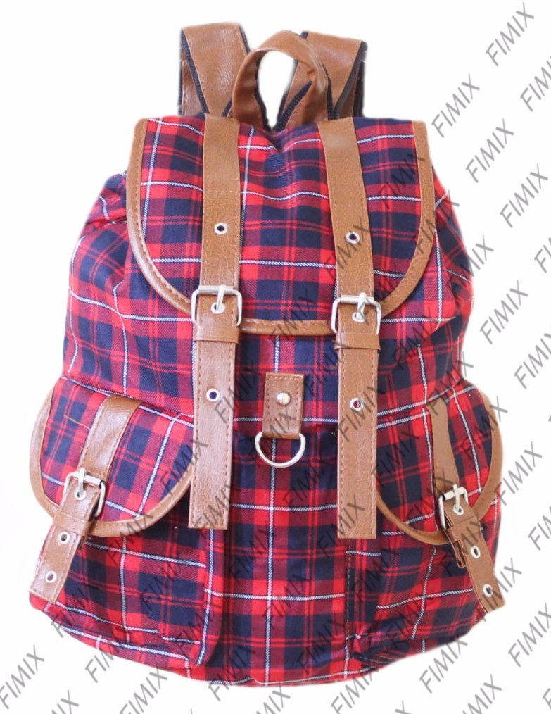 Bolsa Escolar Dos Minions Feminina : Mochila feminina lona xadrez escolar tecido pano bolsa r