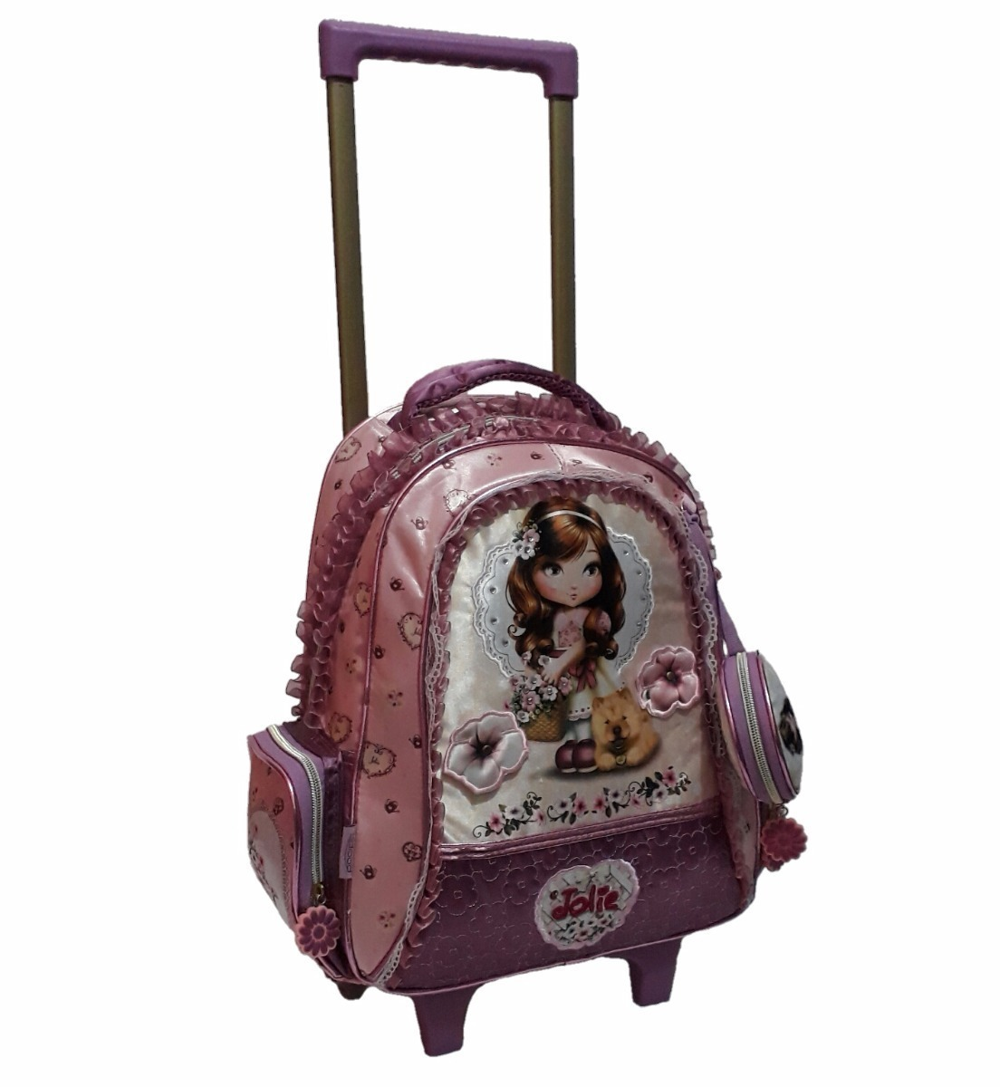 0ff9878d8 mochila feminina m infantil rosa jolie rodinhas muito linda. Carregando zoom .