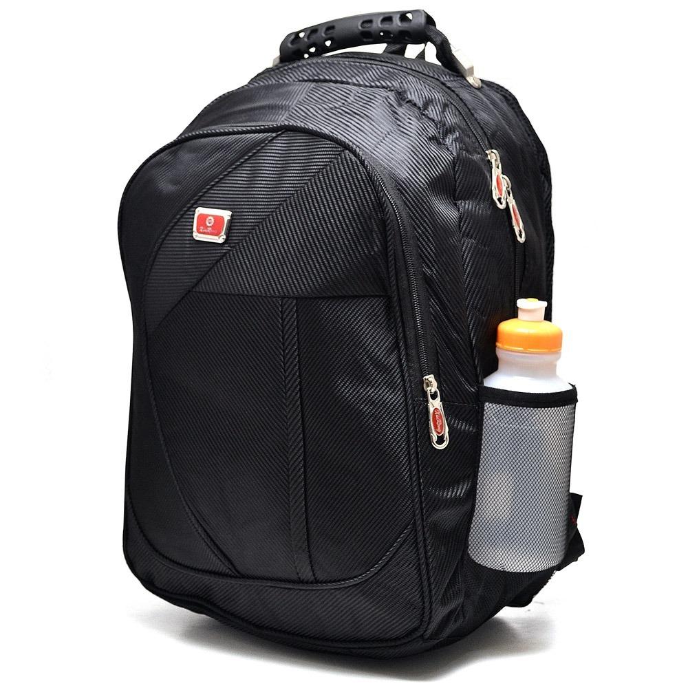 02952e77f mochila feminina masc. bolsa reforçada c/ cabo de aço pta. Carregando zoom.