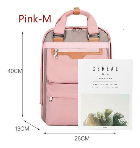mochila feminina notebook resitente à água tamanho m