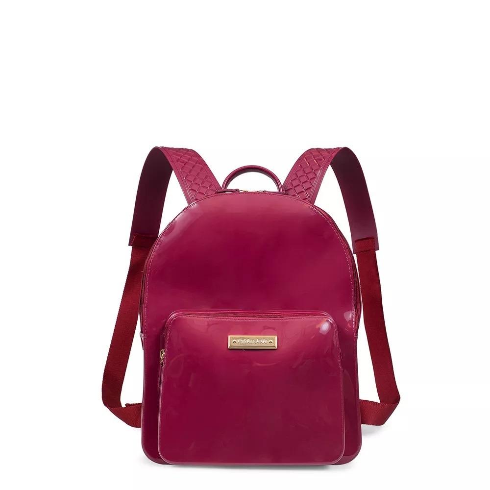 1c371edcc9 mochila feminina petite jolie kit bag lux plum pj2032. Carregando zoom.