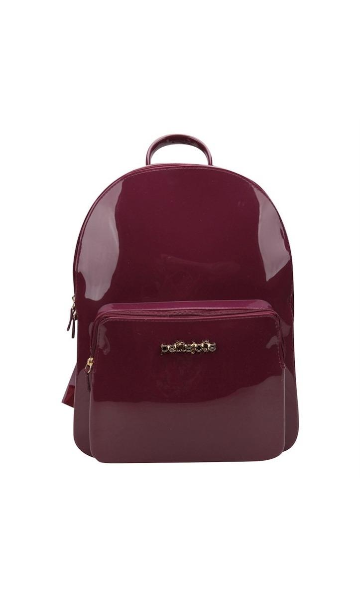 92d5d7b050 mochila feminina petite jolie kit bag pj2032 lux plum bordô. Carregando  zoom.