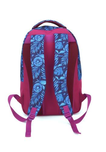 mochila fico floral azul marinho - 45677