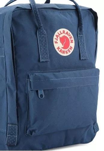 863a28244 Mochila Fjallraven Kanken Royal Blue And Pinstripe Pattern ...