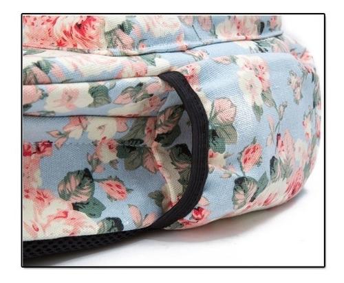 mochila floral linda e maravilhosa