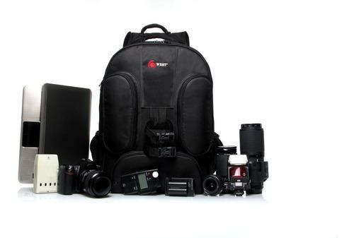 mochila fotográfica acessorios c/ carrinho west new vmb car