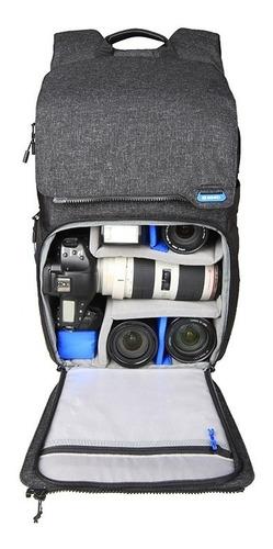 mochila fotográfica benro traveler 300 p/ dslr e mirrorless