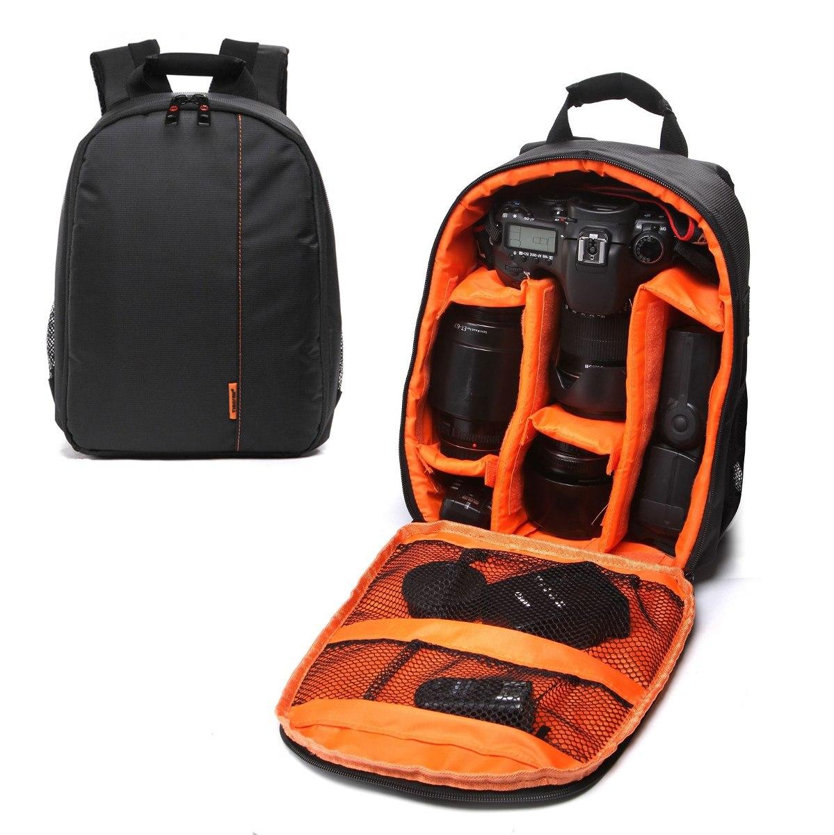 b67a17355623e mochila fotográfica para cámara réflex lentes flash naranja. Cargando zoom.