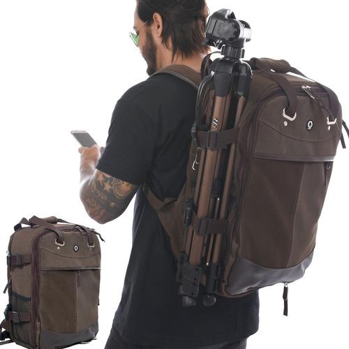 mochila fotográfica photopro style terra notebook capa chuv