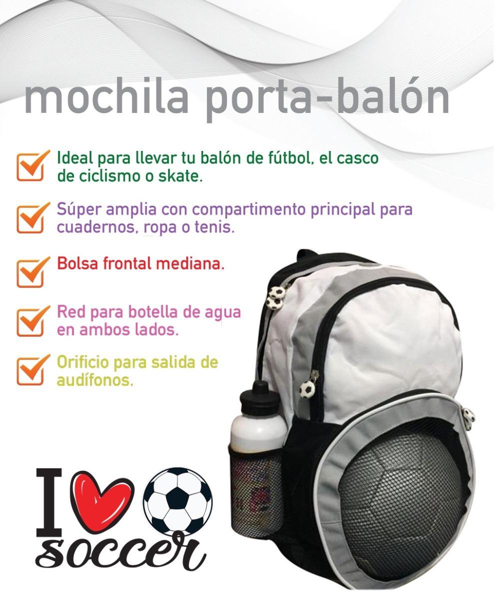 Mochila Futbol Soccer Porta Balón O Casco Ciclismo -   360.00 en ... fc3b84f1994e7