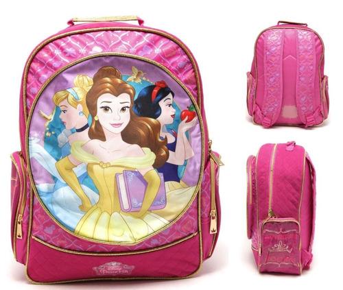 mochila g princesas cinderela, bella, branca de neve - 30406