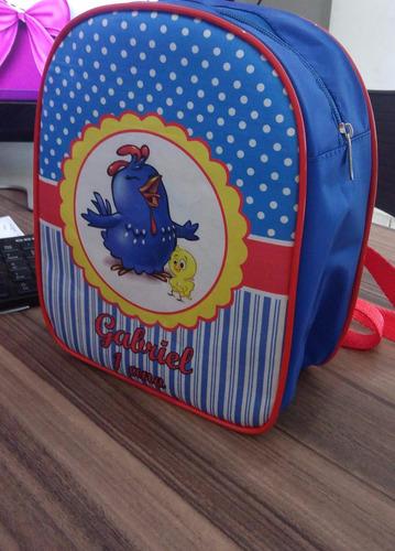 mochila galinha pintadinha