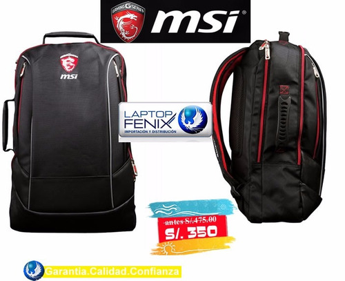 mochila  gamer msi dragon hecate | para laptop hasta 17.3