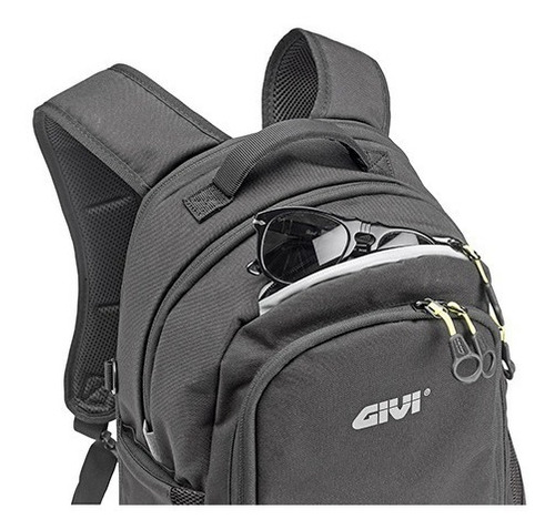 mochila givi people ea124 motociclista com capa impermeável